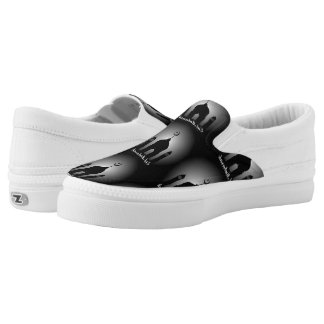 Mosque dome and minaret silhouette Slip-On sneakers