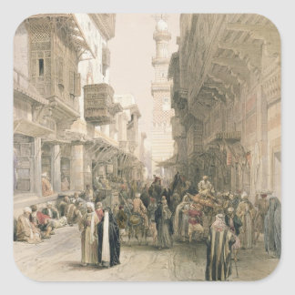 """Mosque El Mooristan, Cairo, from """"Egypt and Nubia"""" Square Sticker"""