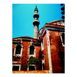Mosque in Rhodes Print