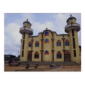 Mosque near the Rond Point Atake, Porto novo, Beni Postcard