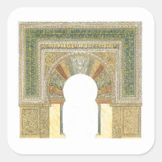 Mosque of Cordoba Spain. Mihrab Square Sticker
