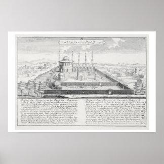 Mosque of Medina, from 'Entwurf einer historischen Poster