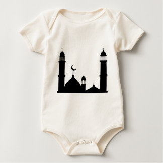 Mosque Silhouette Baby Bodysuit