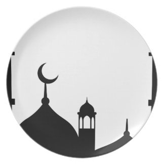 Mosque Silhouette Plate