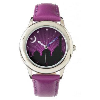 Mosque Silhouette Purple Night - Watch
