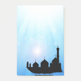 Mosque Silhouette with Sunrays - Post-it® Notes