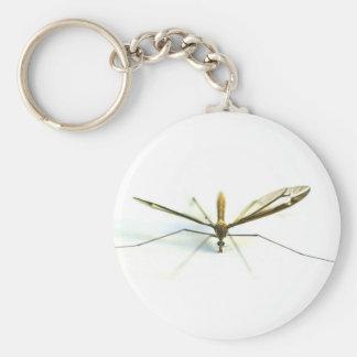 mosquito basic round button keychain