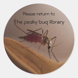 Mosquito Bookplate ~ sticker