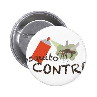 Mosquito Control 2 Inch Round Button