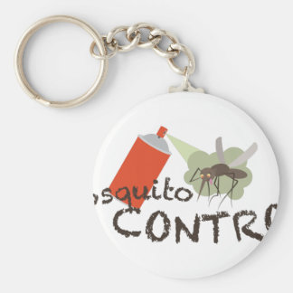 Mosquito Control Basic Round Button Keychain