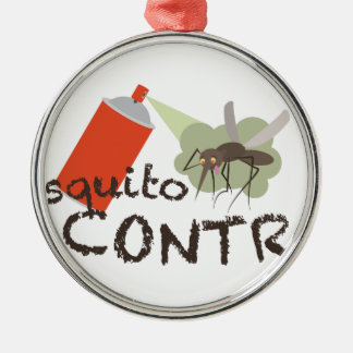Mosquito Control Metal Ornament