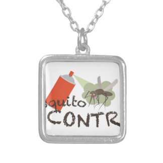 Mosquito Control Silver Plated Necklace