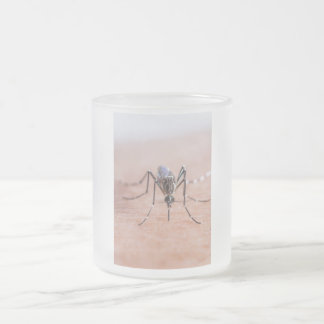 Mosquito Drinking Blood 10 Oz Frosted Glass Coffee Mug