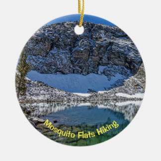Mosquito Flats Hiking, Little Lakes Valley Ceramic Ornament