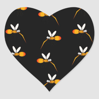 Mosquito Heart Sticker