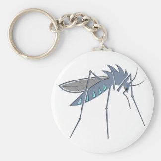 Mosquito mosquito basic round button keychain
