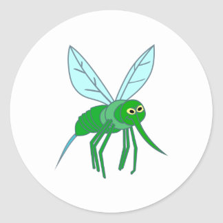 Mosquito mosquito classic round sticker