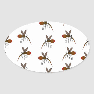 Mosquito Oval Sticker