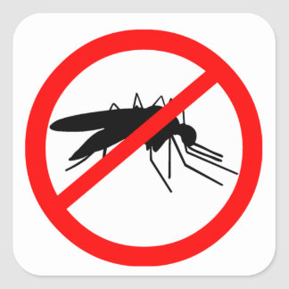 Mosquito Square Sticker
