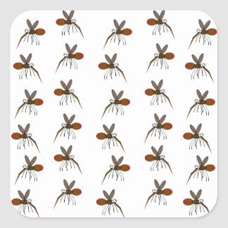 Mosquito Square Sticker