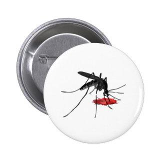 Mosquito Suck 2 Inch Round Button