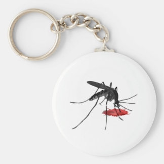 Mosquito Suck Basic Round Button Keychain