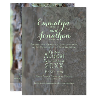 Moss and Pine Forest Modern Invite