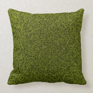Moss background throw pillow