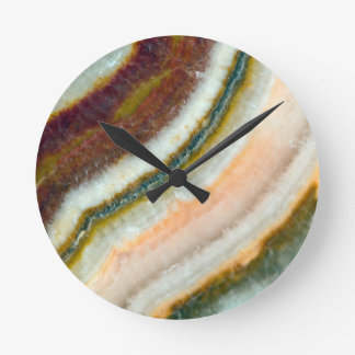 Moss Cafe Quartz Crystal Round Clock