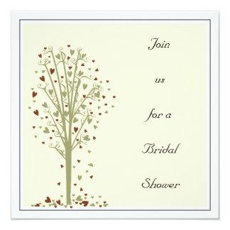Moss & Cocoa Heart Tree : Shower Invitation