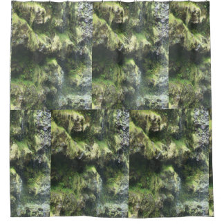 Moss Covered Stones shower curtain