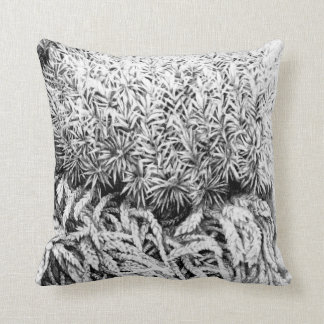 Moss drawing mono art pillow