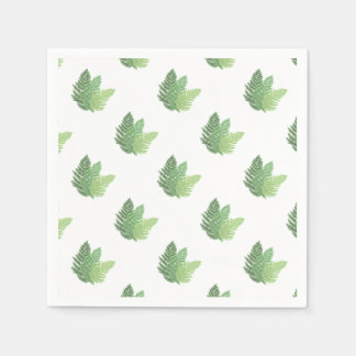 Moss Ferns Paper Napkin