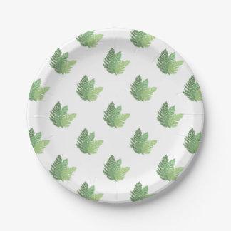 Moss Ferns Paper Plate