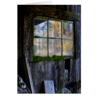 moss framed panes card