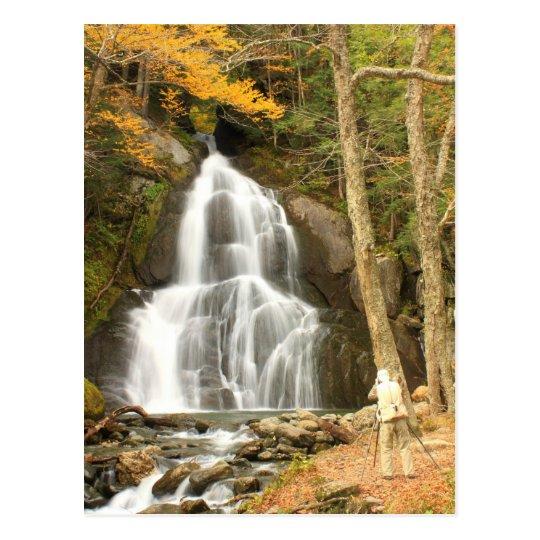 Moss Glen Falls Vermont and Photographer Postcard