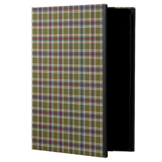 Moss Green and Purple Fashion Plaid Powis iPad Air 2 Case