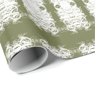 Moss Green and White Gift Wrap For Any Celebration