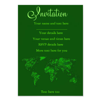 Moss green atlas card