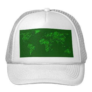 Moss green atlas trucker hat