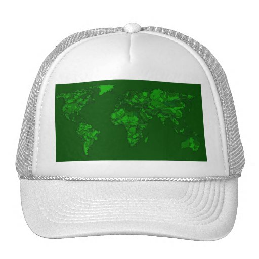 Moss green atlas trucker hats