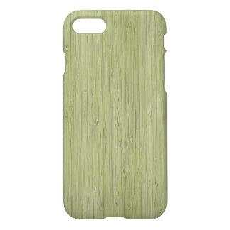 Moss Green Bamboo Wood Grain Look iPhone 7 Case
