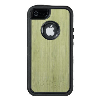 Moss Green Bamboo Wood Grain Look OtterBox iPhone 5/5s/SE Case