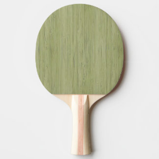 Moss Green Bamboo Wood Grain Look Ping Pong Paddle