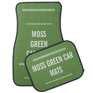 Moss green car mats full set of 4