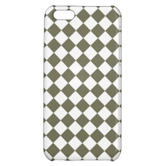 Moss Green Checkerboard pattern iPhone 5C Cases