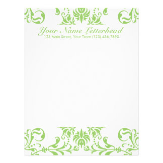 Moss Green + Custom Color Custom Letterhead