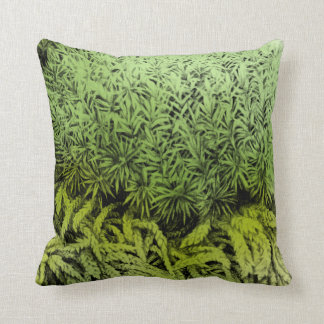 Moss green drawing with color overlay art pillow