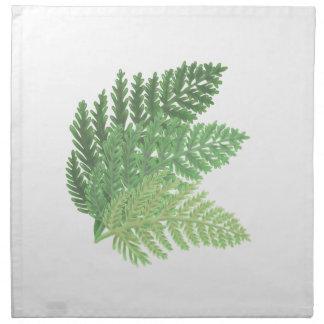 Moss Green Ferns Napkin