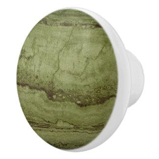 Moss green Granite Ceramic Knob